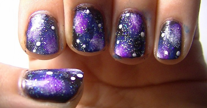 Tutorial Membuat Galaxy Nail Art