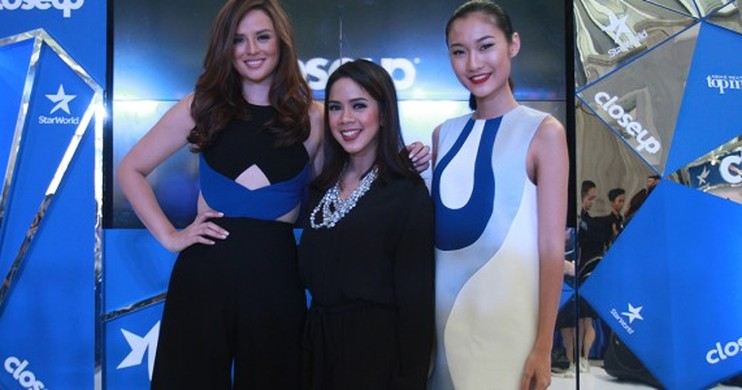 Foto CloseUp Dukung Wakil Indonesia di Final Asia's Next Top Model Musim Ketiga