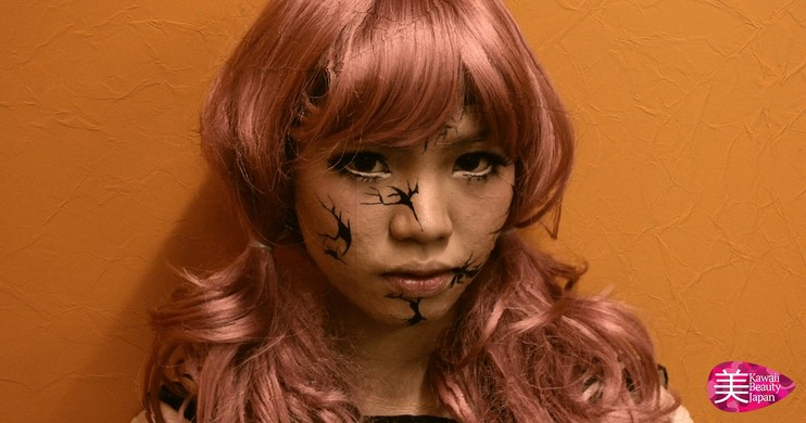 Foto Tutorial Makeup Halloween; Broken Doll