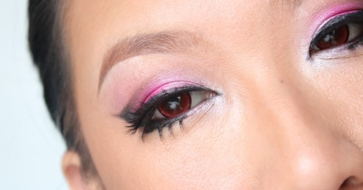 Foto Eye make Up Tutorial: Party Pink